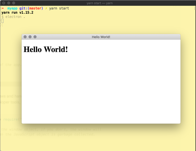 hello world screenshot