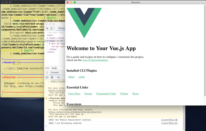 electron vue screenshot